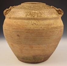 Han Dynasty Celadon Glazed Stoneware Jar