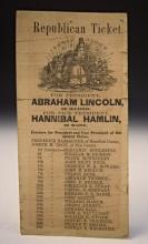 1860 Ohio Republican Campaign Ticket