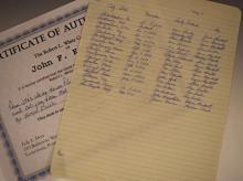 President John F. Kennedy's Personal Call Log