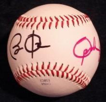 Obama & Oprah Signed Baseball