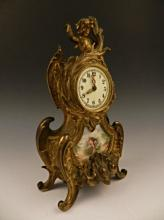 Antique Gilt Bronze Cherub Mantle Clock