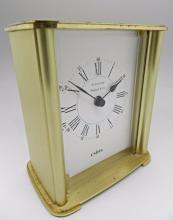 Tiffany & Co. Brass Desk Clock
