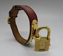 Hermes Kelly Leather Watch