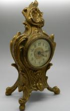 French Gilt Bronze Louis XV Clock