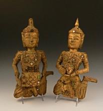 Parcel Gilt Wood Figures