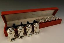Cartier Salt & Pepper Sterling Shakers