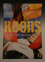Jeff Koons Signed Poster