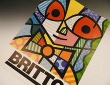 Romero Britto Signed Poster