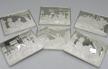 Grouping of Norman Rockwell Silver Plaques