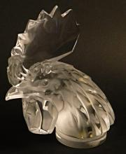 Lalique France Crystal Rooster Head