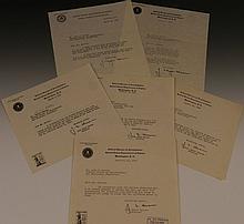 J. Edgar Hoover Signed Letters