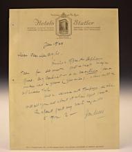 Harry Houdini Signed Letter