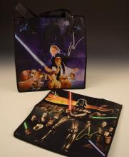 George Lucas Signed Star Wars Collector Bags