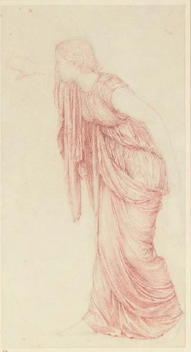 Study of a draped classical figure, full-length