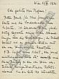 GÖDEL, Kurt. Autograph letter signed in German to Thoralf Skolem (