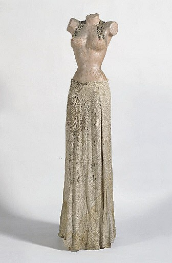 Abendkleid mit Büstenhalter-Collier, 1968