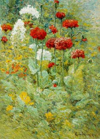 JOHN JOSEPH ENNEKING (1841-1916)Flowers in a Gardensigned Enneking and