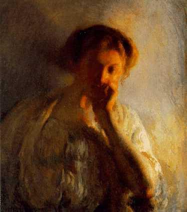 JOSEPH RODEFER DE CAMP (1858-1923)La Penserosasigned Joseph-De-Camp, l.l.