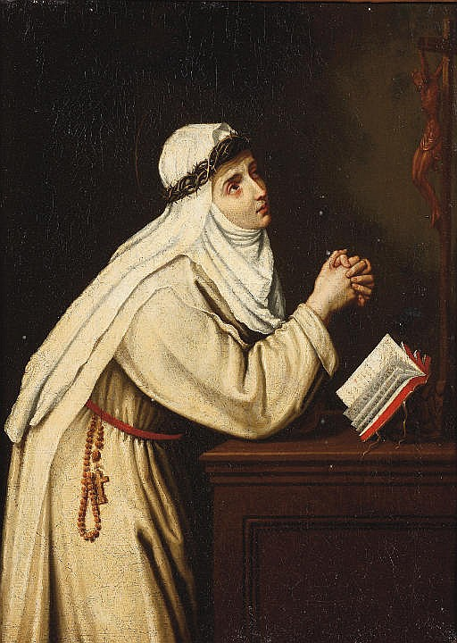 Saint Catherine of Siena in prayer