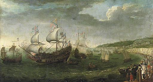 The Embarkation of the Elector Palatine in the 'Prince Royal at Dover, 25 April 1613