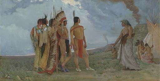 George De Forest Brush Indian Paintings