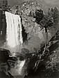 Vernal Fall, Yosemite Valley, 1948, Ansel Adams, Click for value