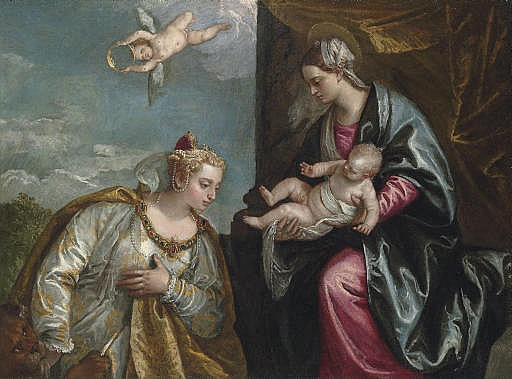Allegory of the City of Venice adoring the Madonna and Child