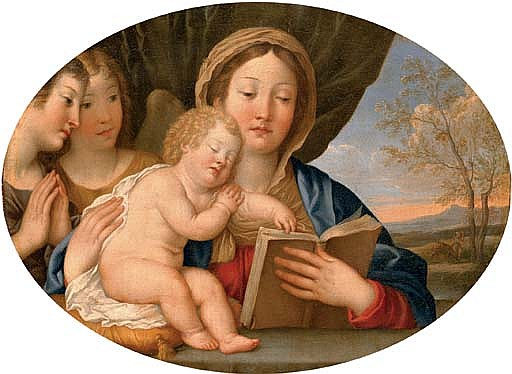 The Madonna and Child with attendant angels