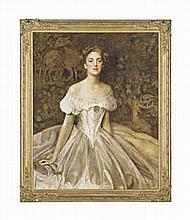Frank Cadogan Cowper, R.A. (1877-1958)   Portrait of Elizabeth Witts, daughter of Lieutenant-General Frederick Vavasour Broom Witts (1...