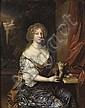 Attributed to Caspar Netscher (Heidelberg 1639-1684 The Hague) , Caspar Netscher, Click for value