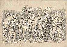 A Bacchanal with Silenus (B. 20; Hind 3; Martineau 75)
