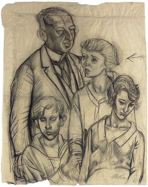 Familie Glaser--Karton zum Gemälde