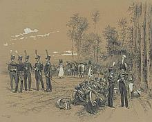 French soldiers at rest