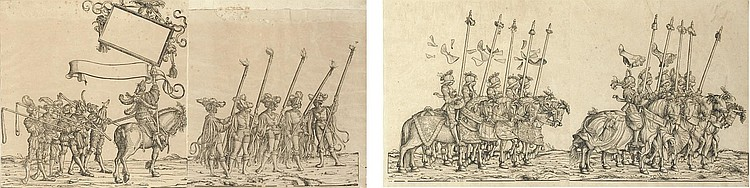 33 plates from  The Triumphal Procession of Emperor Maximilian I  (Bartsch 81; Hollstein 552-618)