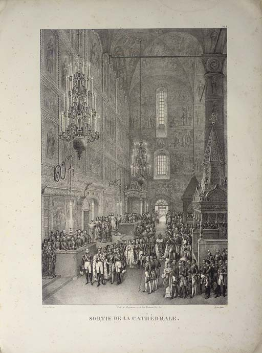 NICHOLAS I -- ADAM, Victor (1801-1866, illustrator) [and Henry GRAF]. <I>Vues des cérémonies les