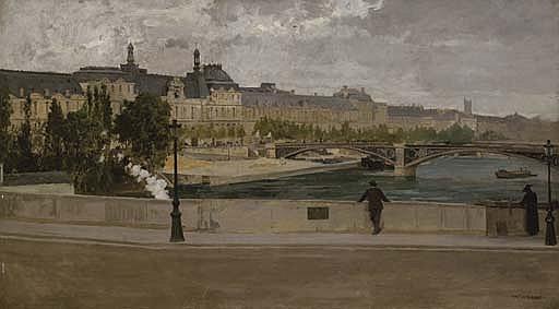 Vue du Louvre du pont Royal