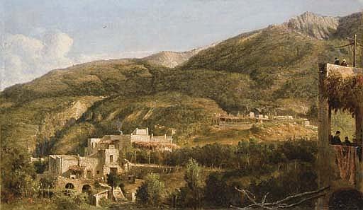 Vue de l'arrière-pays à Ischia, Italie