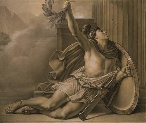 Philippides annoncant la victoire de Marathon