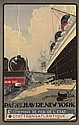 FRENCH LINE, PARIS-HAVRE-NEW YORK , Albert Sébille, Click for value