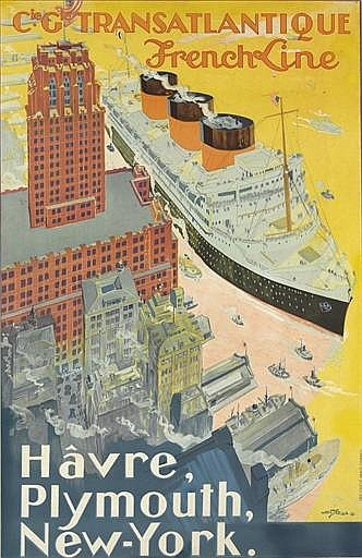 Cie. Gle. Transatlantique, 'Havre, Plymouth, New-York.'