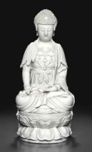 A DEHUA FIGURE OF THE SEATED BUDDHA