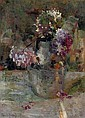 Purple Hortensia in a vase, Floris Verster, Click for value