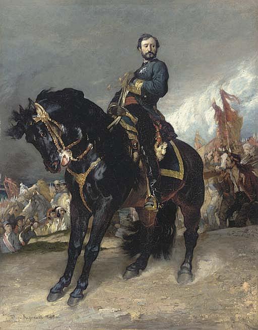 Study for  Arrivé du Général Prim devant Madrid
