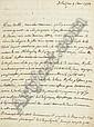 ALEMBERT, Jean Le Rond d' (1717-1783). Lettre autographe adressée à
