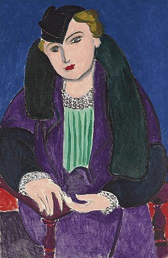 Portrait au manteau bleu