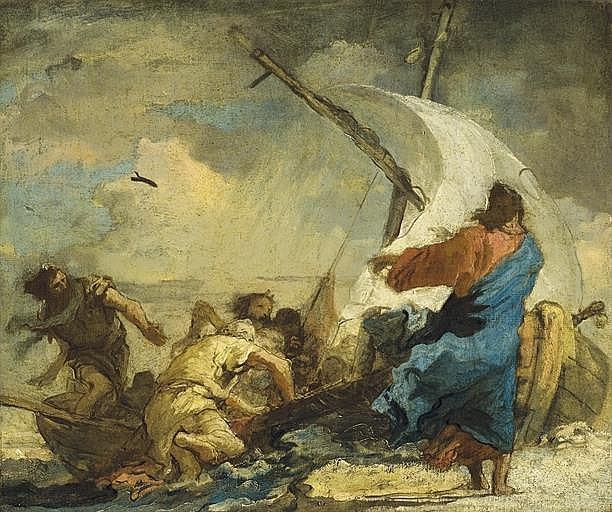 Le Christ calmant la tempête