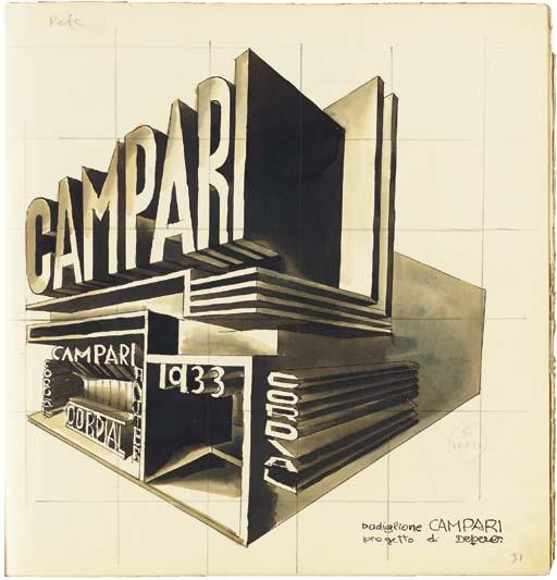 DEPERO, Fortunato (1892-1960). <I>Campari 1931</I>, maquette originale réalisée par Depero.