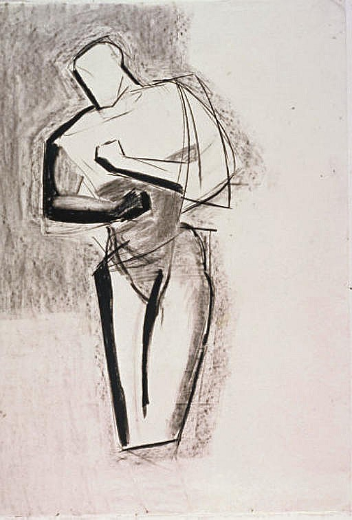 Untitled (Study for figure)