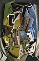 Violon et journal, Juan Gris, Click for value