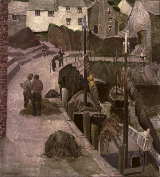 Fishing nets at harbour, Cornwall